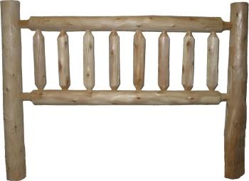 cottage white cedar rustic log headboard, Headboard designs