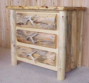 . Mountain Pine 3 Drawer Rustic Dresser