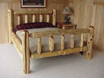 Mountain Red Cedar Rustic Log Bed