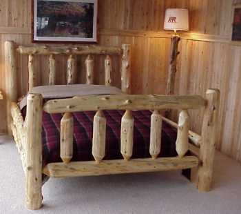 Mountain White Cedar Log Bed