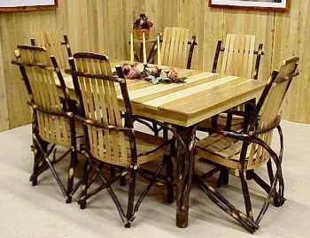 Hickory 60 Inch Rectangle Dining Table Set
