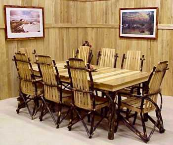 hickory wood dining set. hickory wood dining set