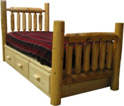 Queen Bed Frame With Drawers Rustic Bedspring