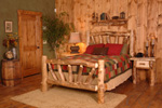 Aspen Hobble Creek Rustic Log Bed