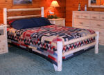 Simple White Cedar Rustic Log Bed